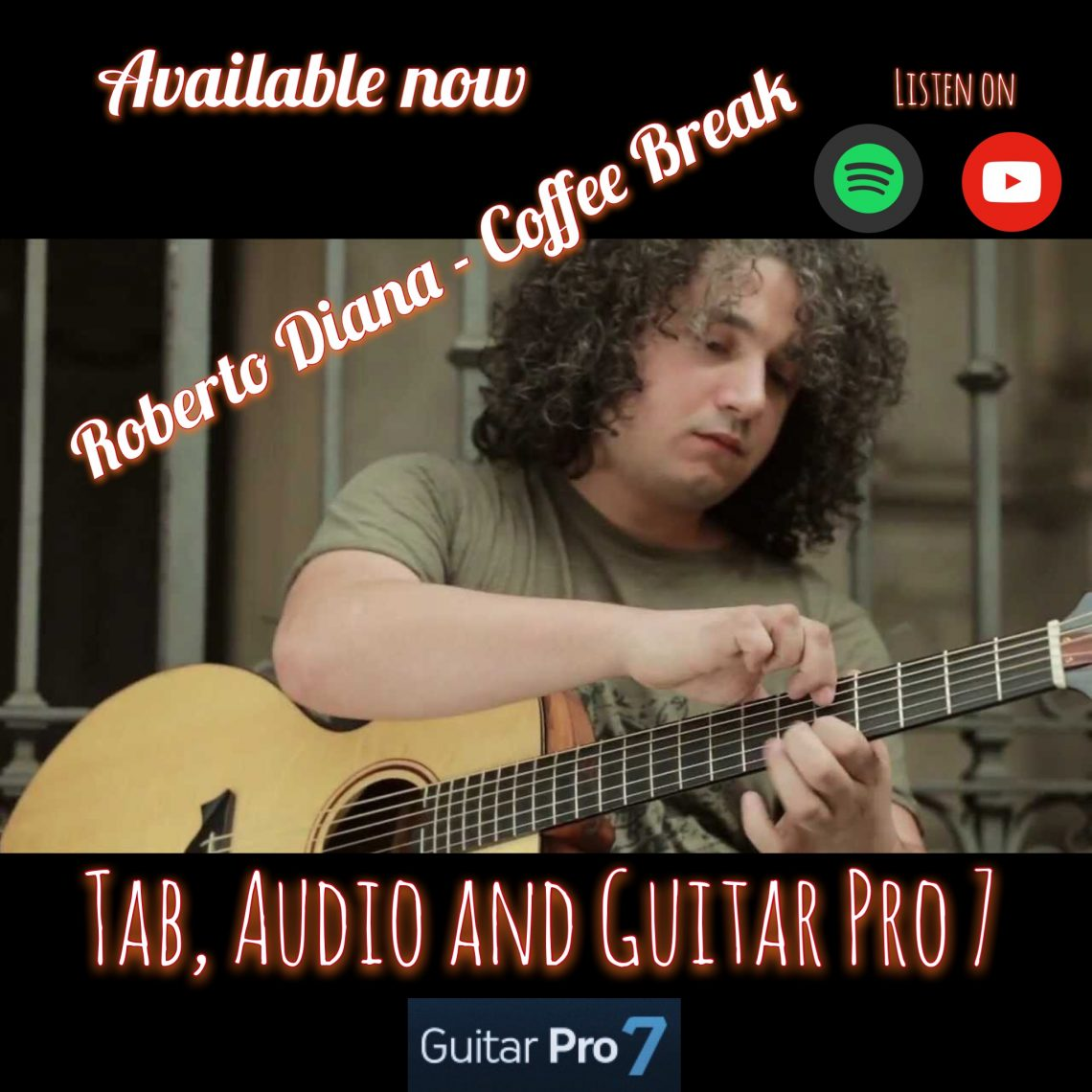 Coffee Break Acoustic Guitar TAB (ROBERTO DIANA) mcloughlin